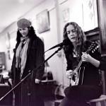 Kathy & poet Zan Agzigian at Calypsos in Coeur d'Alene